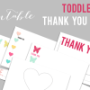 Toddler Thank You Cards