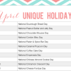 Bizarre Holidays - Printable April Calendar