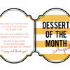 Printable Teacher Card - Dessert of the Month