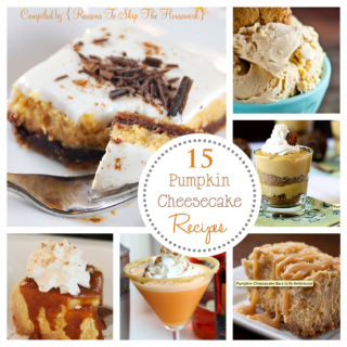 15 Pumpkin Cheesecake Recipes {Reasons To Skip The Housework}
