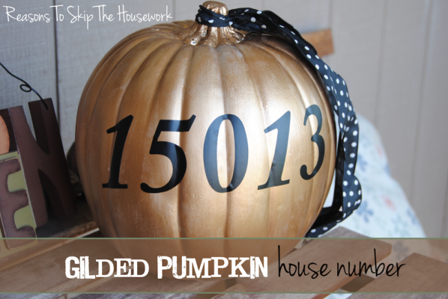 gilded pumpkin {Reasons To Skip The Housework}