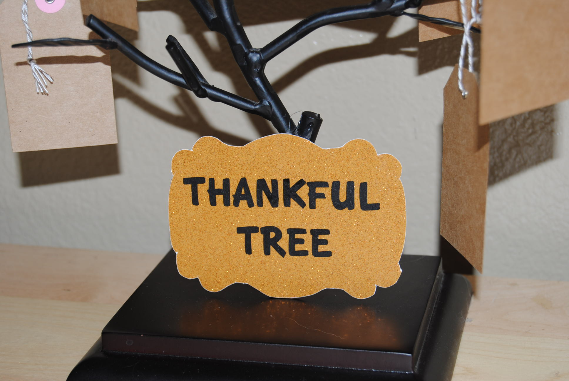 thankful tree {Reasons To Skip The Housework}