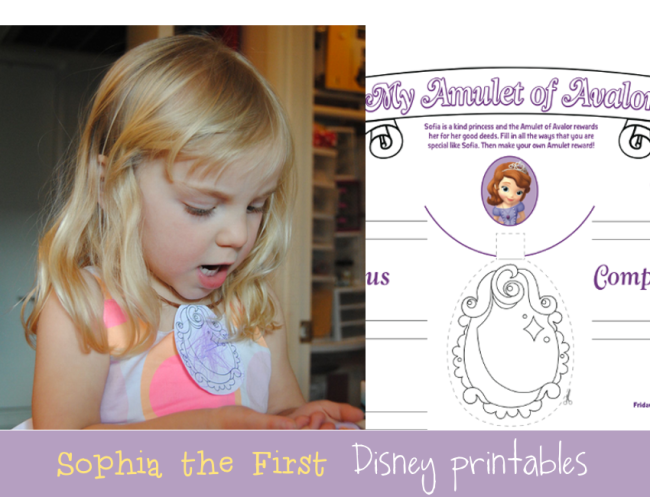 Disney's Sophia The First Printables via Reasons To Skip The Housework