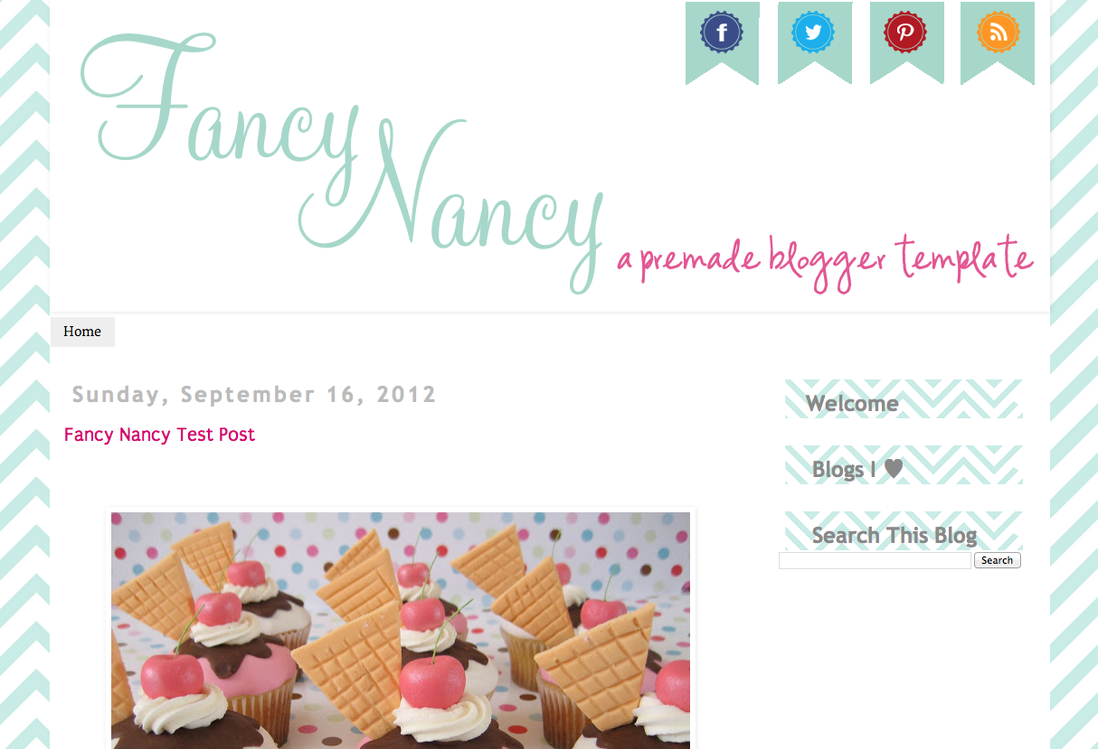 Fancy Nancy Premade {Blogger}
