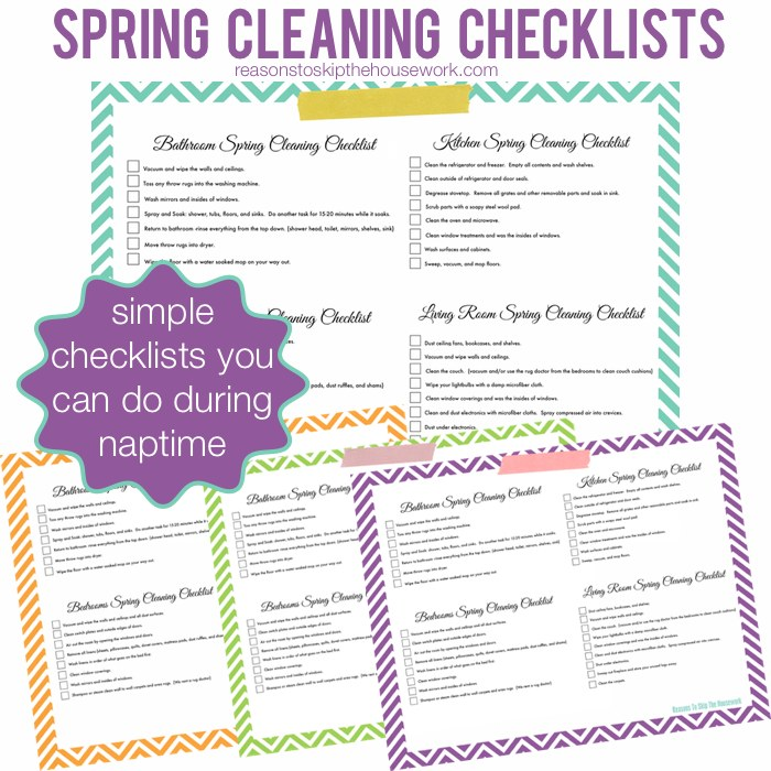 Spring Cleaning Checklist - Reasons To Skip The Housework