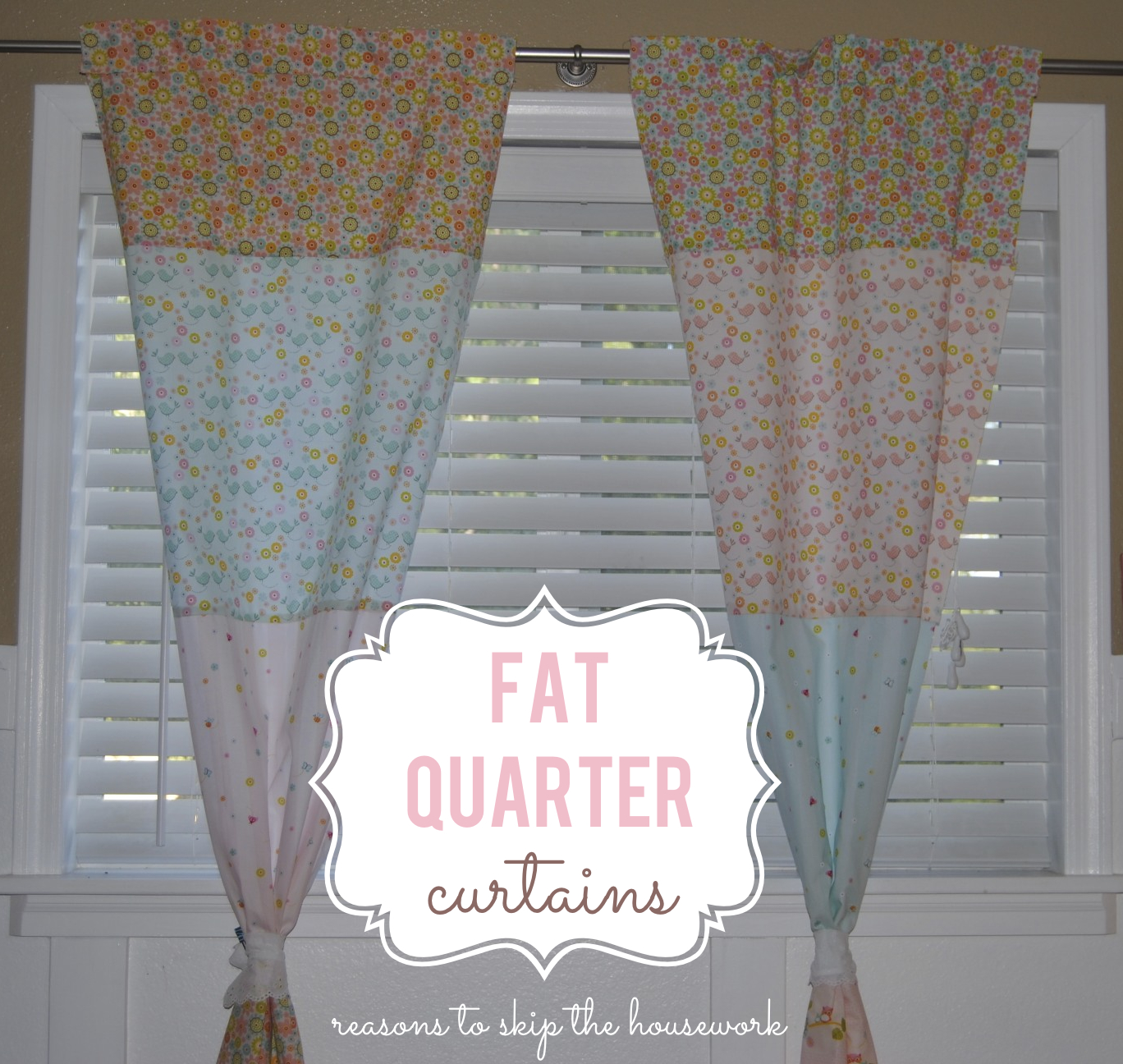 Diy Fat Quarter Curtains Easy Sewing Project