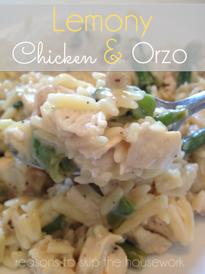 lemony chicken orzo