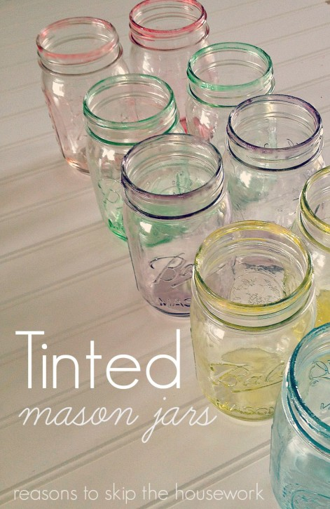 You can Tint Mason Jars yourself! It's simple and such a beautiful project to try for home decor or a centerpiece!