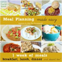 meal planning lead