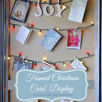 Framed Christmas Card Display 2