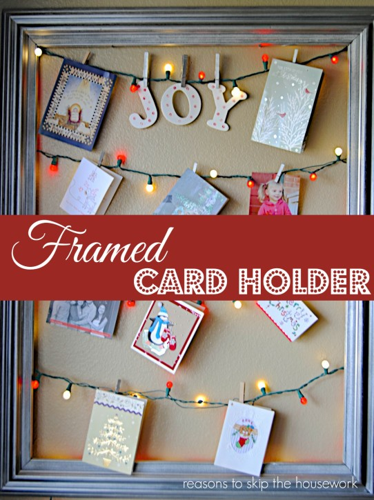 Framed Christmas Card Display