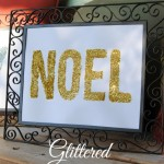 glittered word art