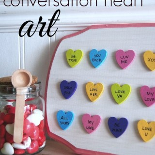 conversation heart art