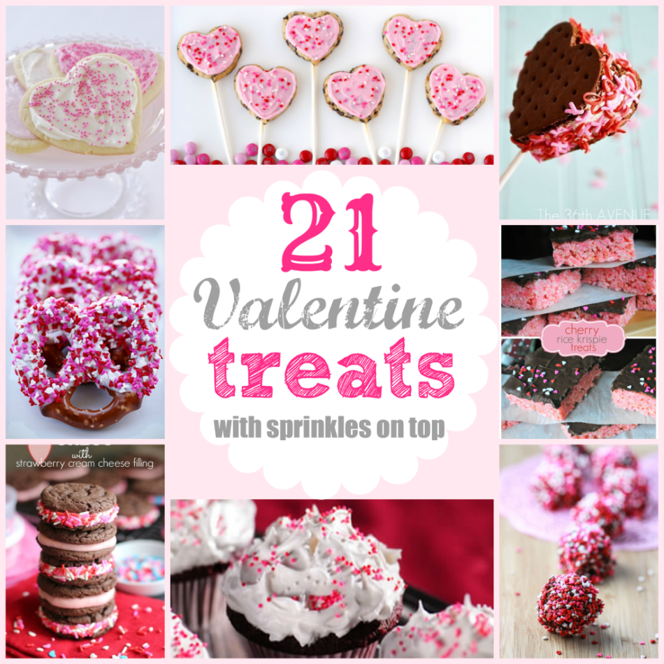 Valentines Treats with Sprinkles