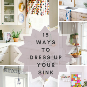 15 Ways To Dress Up your Sink