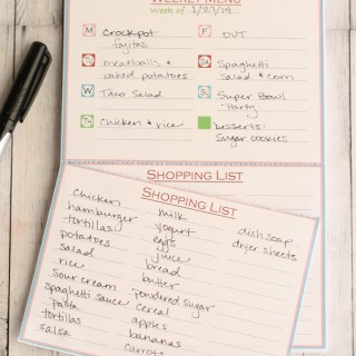 Menu Notepad 1