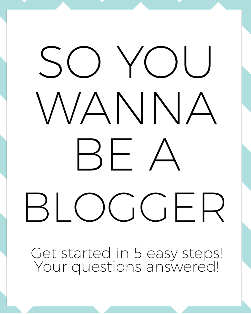 so you wanna be a blogger