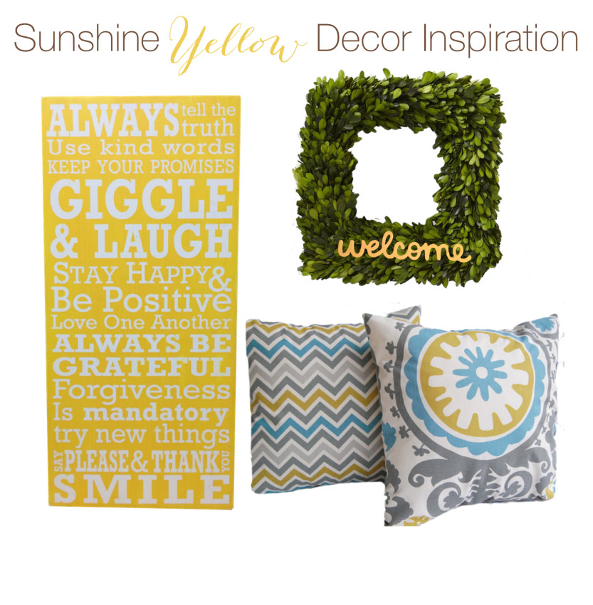 yellow decor inspiration board