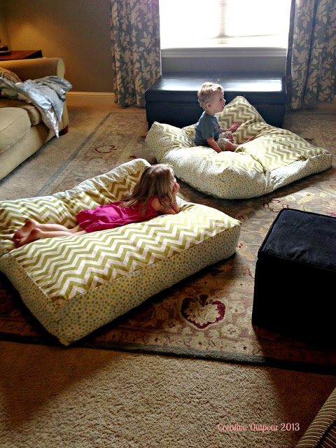 Make Floor Pillows Cushions : Make Your Own Floor Pillows