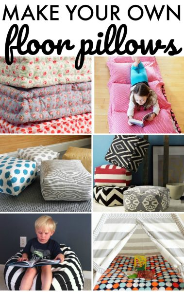 Make Your Own Large Floor Pillows : Make Your Own Floor Pillows