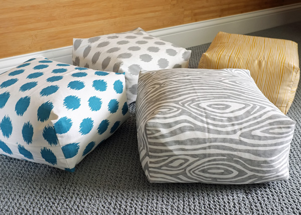 How To Sew A Large Floor Pillow : Make Your Own Floor Pillows
