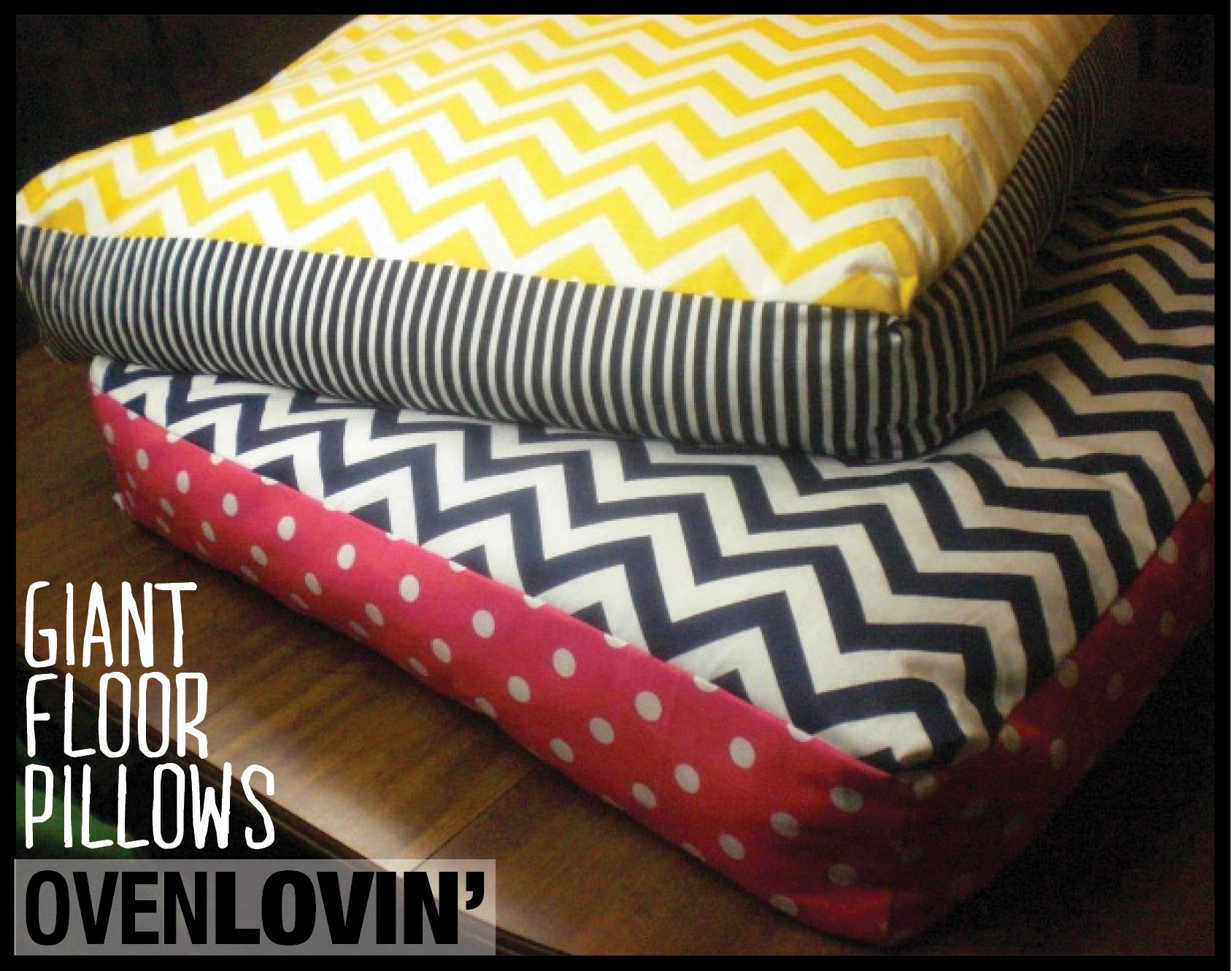 How To Make An Oversized Floor Pillow : Make Your Own Floor Pillows