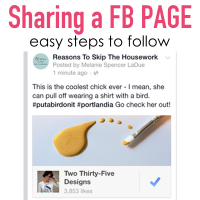 how to share a Facebook page