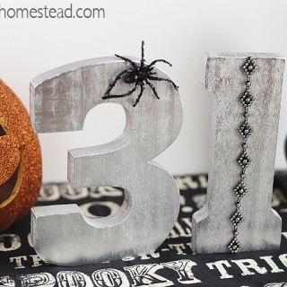 DIY Halloween Craft by Blooming Homestead #halloween #halloweencraft #homedecor