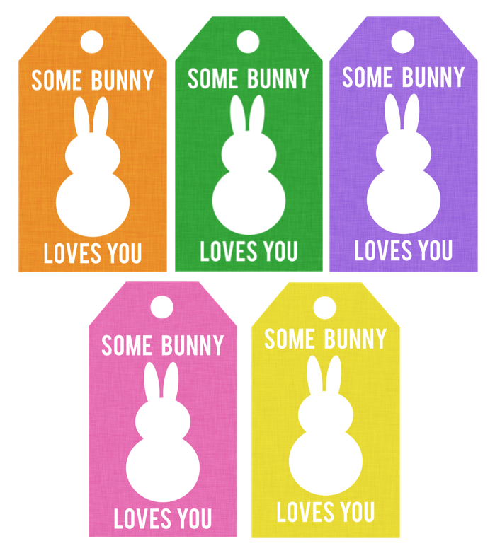free printable some bunny loves you tags