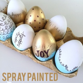 spray painted easter eggs