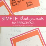 simple thank you cards for preschoolers