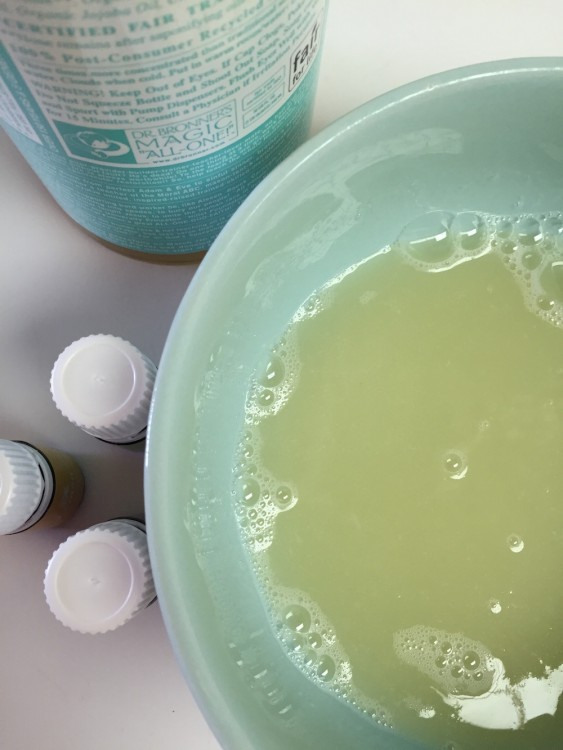 DIY face wash prep
