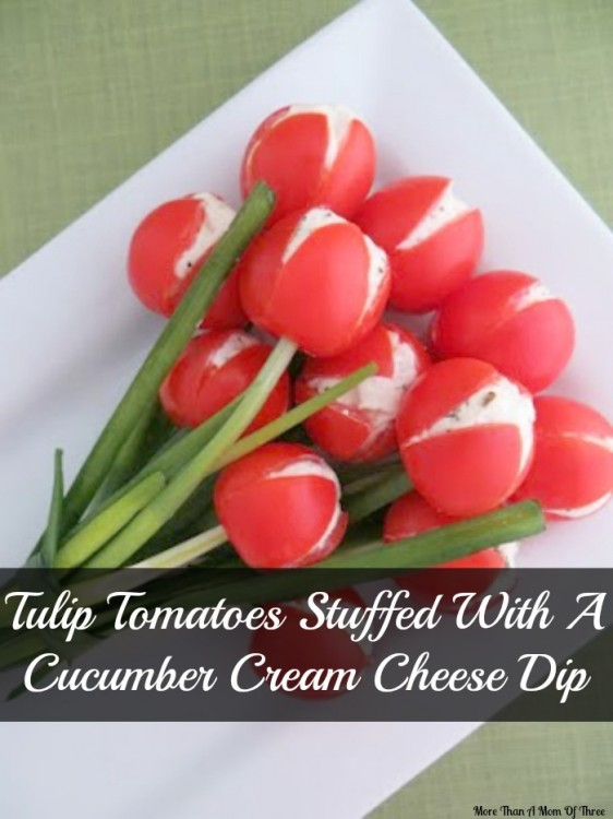 Tulip-Tomatoes-Stuffed-With-A-Cucumber-Cream-Cheese-Dip