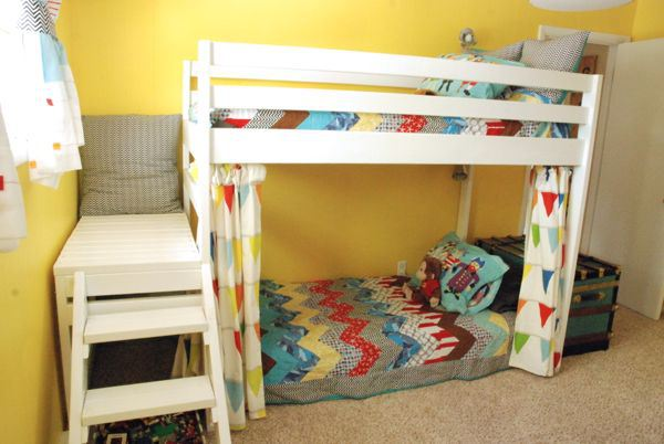 diy jr loft bed 10 - Bunk Loft Bed Plans