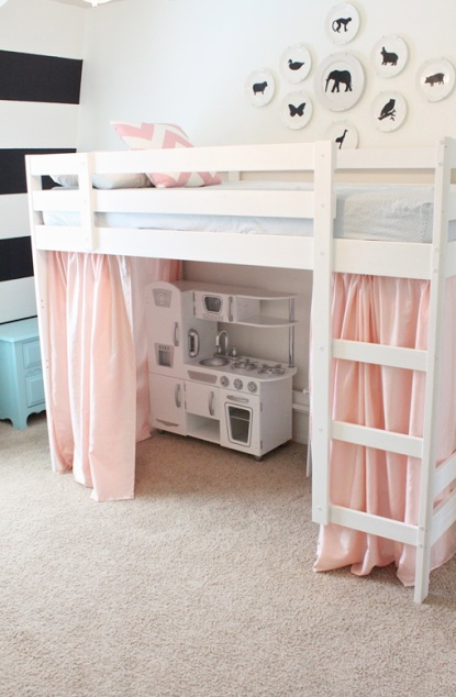 tented loft bed - Bunk Beds For Kids Plans