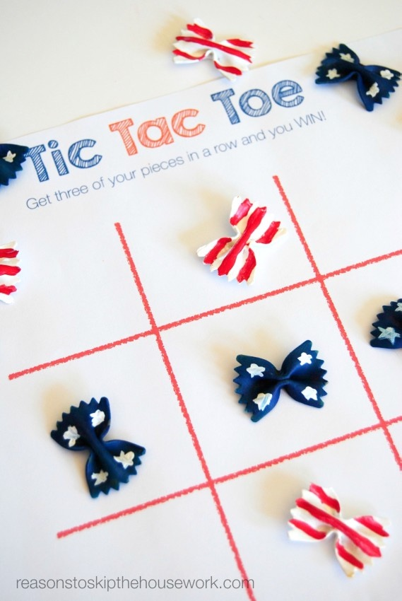 Fourth of July Crafts for Kids: Tic Tac Toe