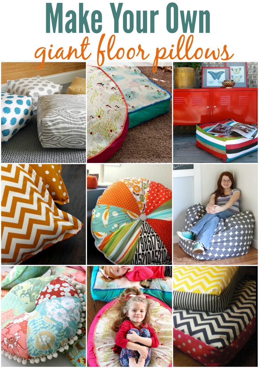 Making your own floor pillows is easy with these fun tutorials!