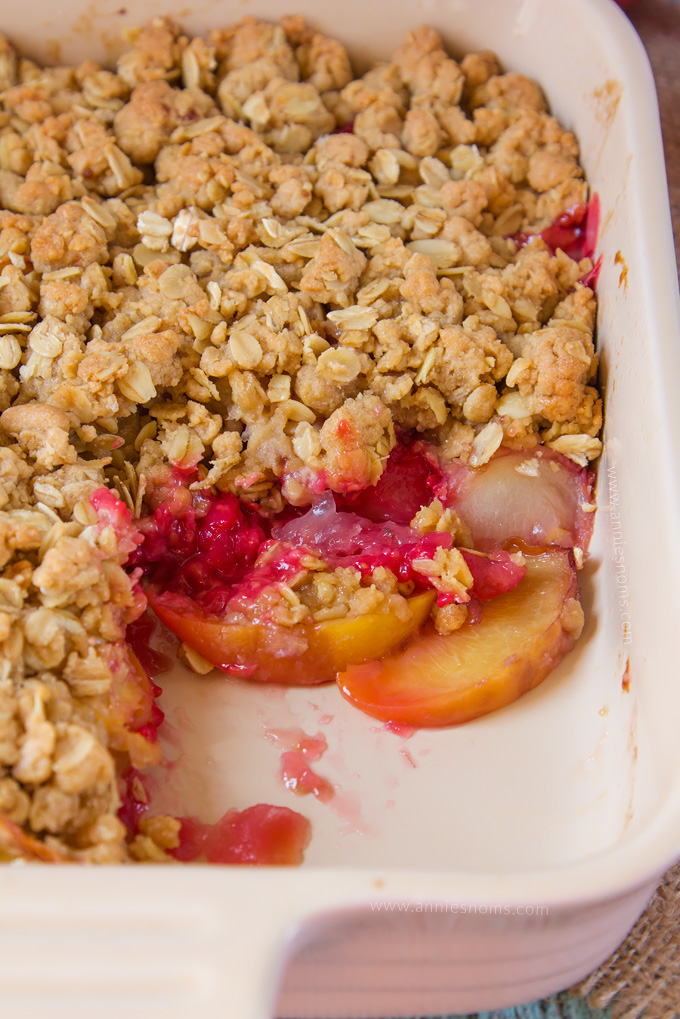 ... Raspberry Peach Crumble will have everyone wanting second helpings