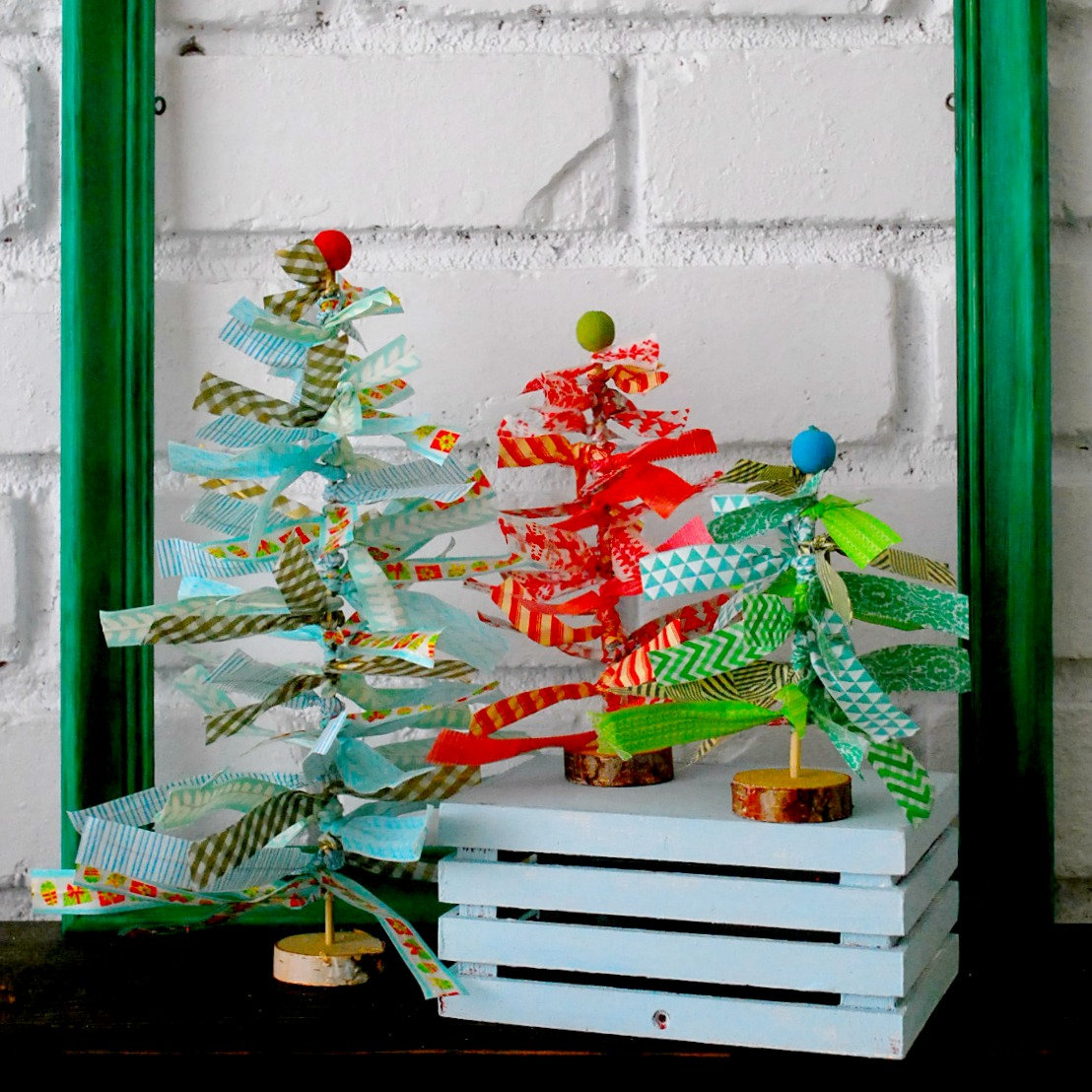 Washi Tape Christmas Trees - The Silly Pearl for Reasons to Skip the Housework