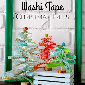 Washi Tape Christmas Trees by The Silly Pearl for Reasons to Skip the Housework