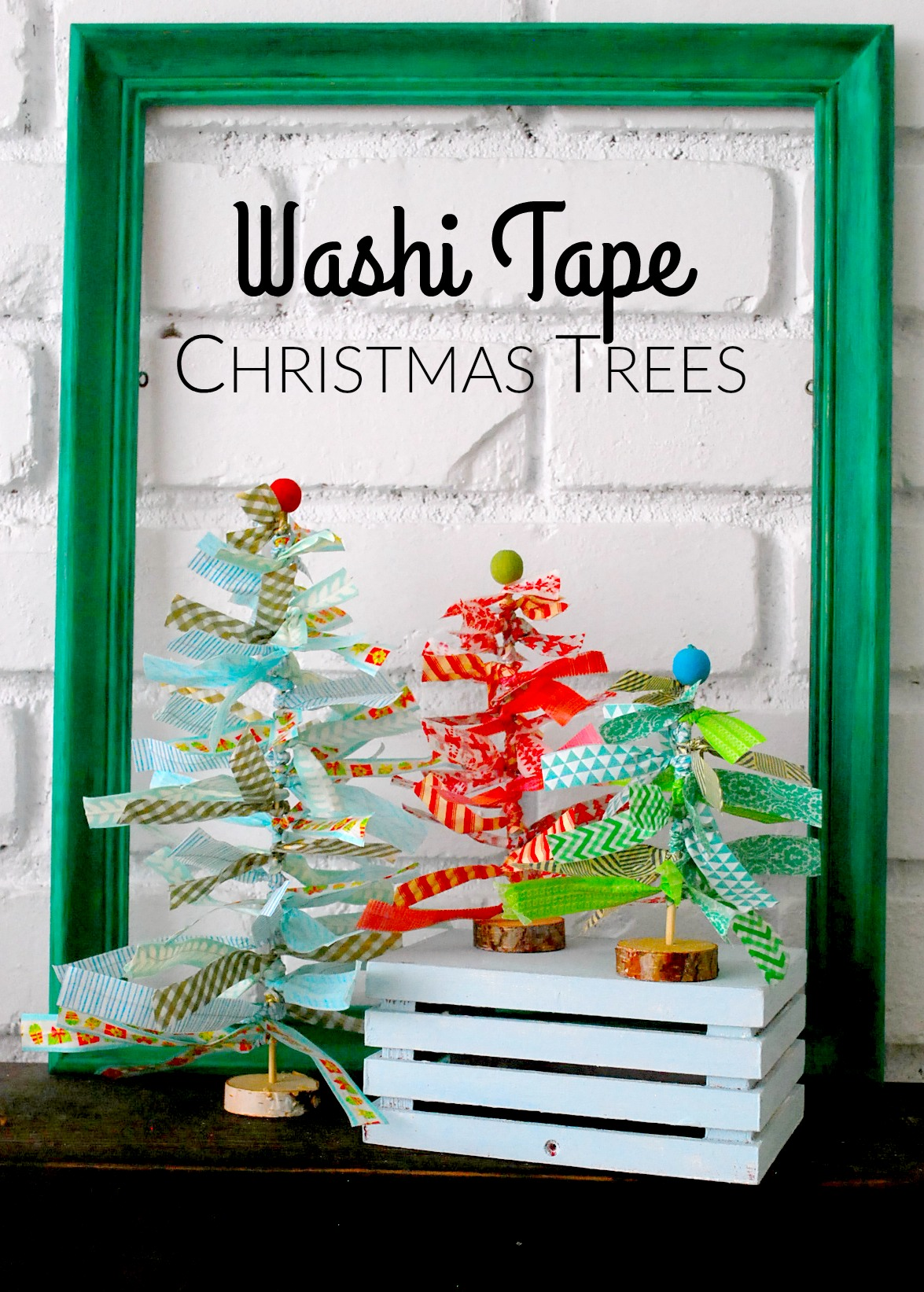 Washi Tape Christmas Trees By