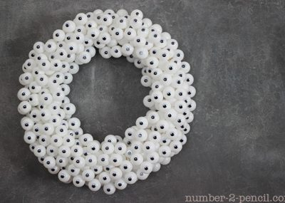 Googly Eye Wreath that will spook the neighbors AND the rest of the family!