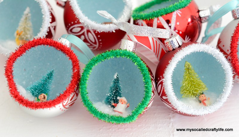 Diorama Ornaments: These creative handmade ornaments will add a special touch to your Christmas tree this season!