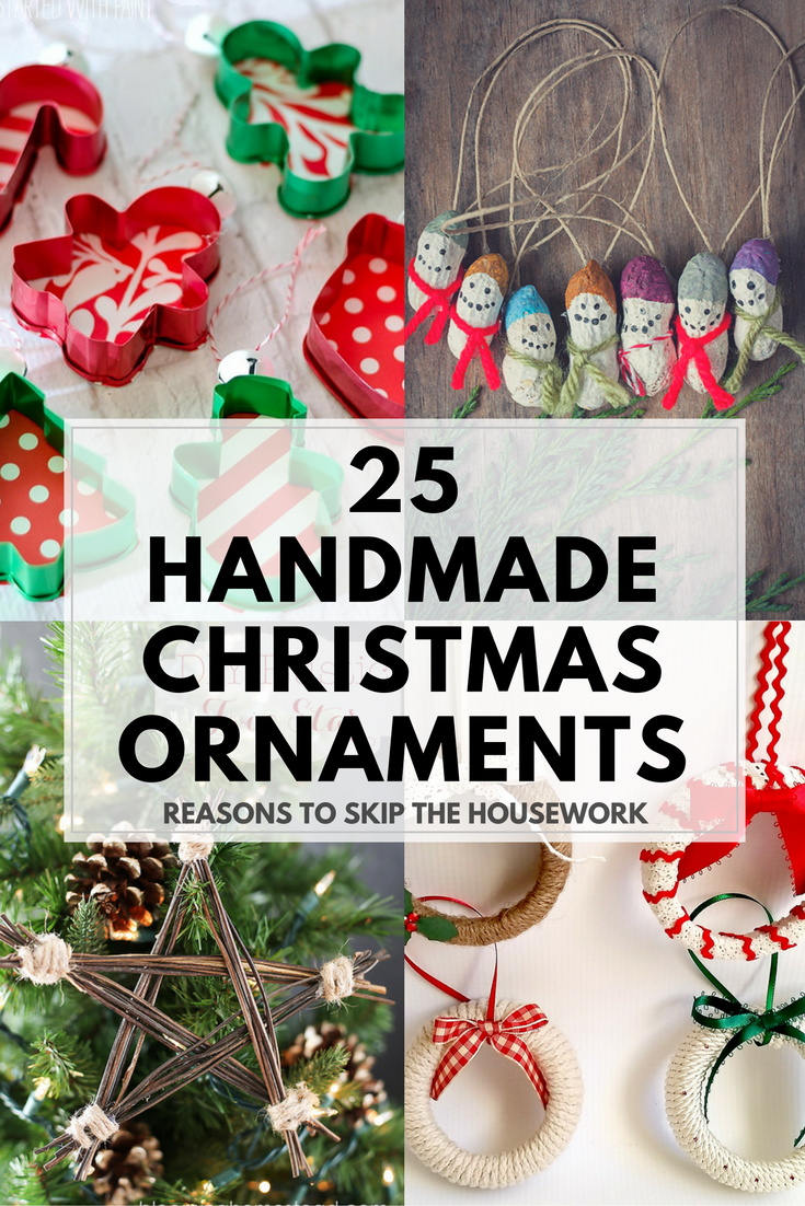 These creative Handmade Ornaments will add a special touch to your Christmas tree this season!