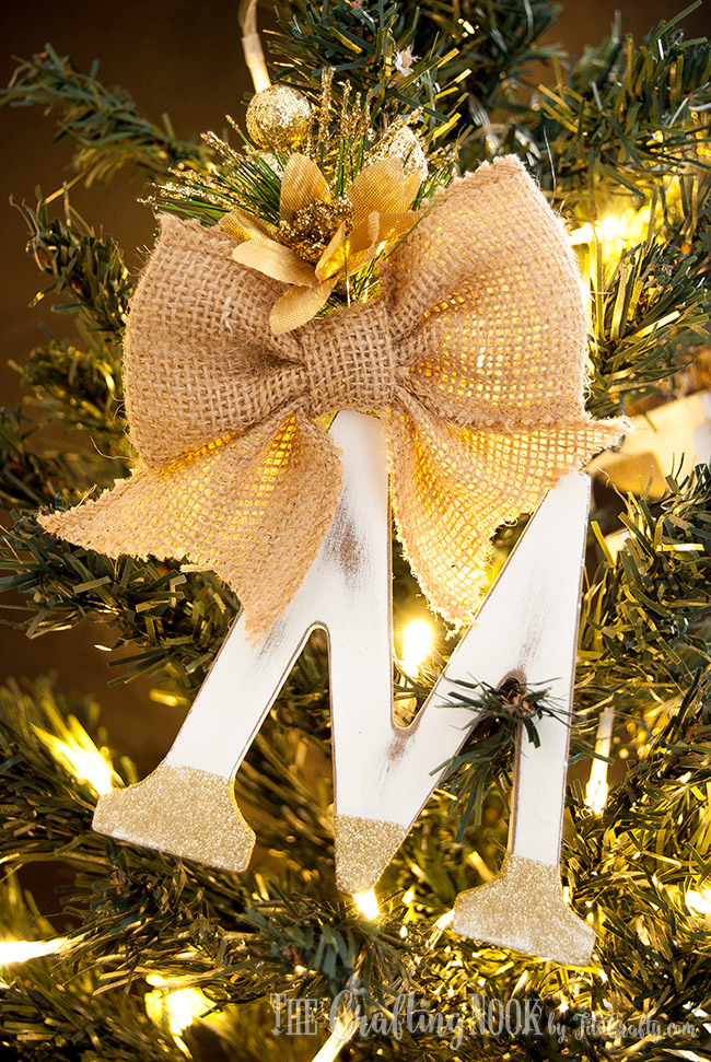 Monogram Ornament: These creative handmade ornaments will add a special touch to your Christmas tree this season!