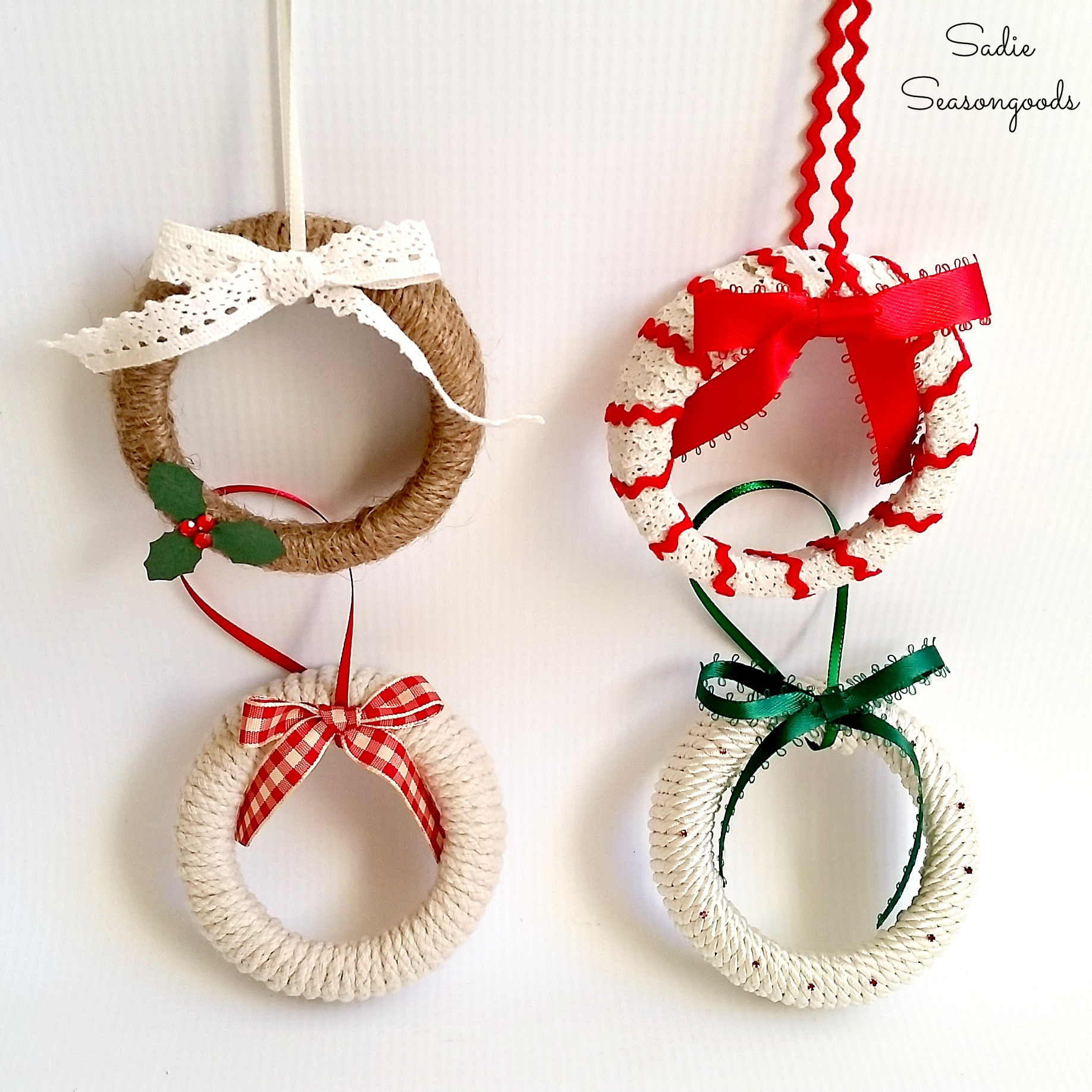 Mason Jar Lid Ornament: These creative handmade ornaments will add a special touch to your Christmas tree this season!