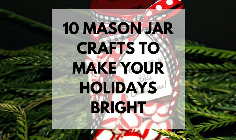 The holidays are here and there are so many different gift and decor ideas to bring lots of cheer! There are so many Mason Jar Crafts to make this holiday!