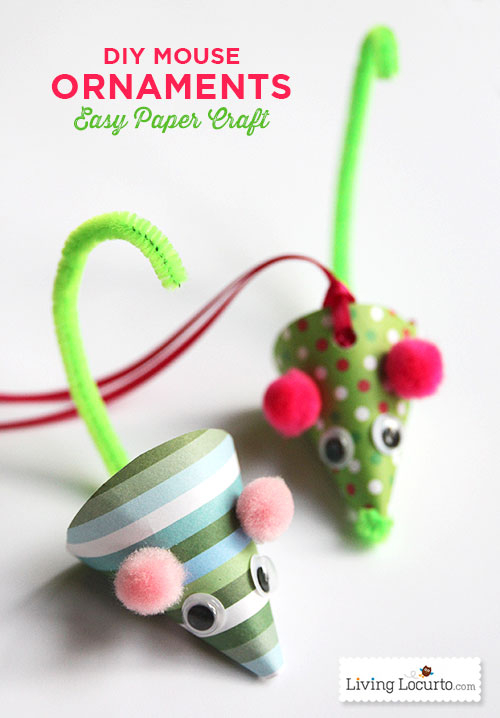 Mouse Ornament: These creative handmade ornaments will add a special touch to your Christmas tree this season!