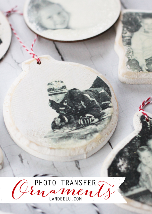 Photo Transfer Ornaments: These creative handmade ornaments will add a special touch to your Christmas tree this season!