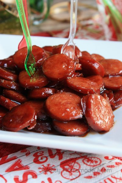 Kielbasa Bites: When you head out to your parties, make sure you have some great Christmas Party Food with you!